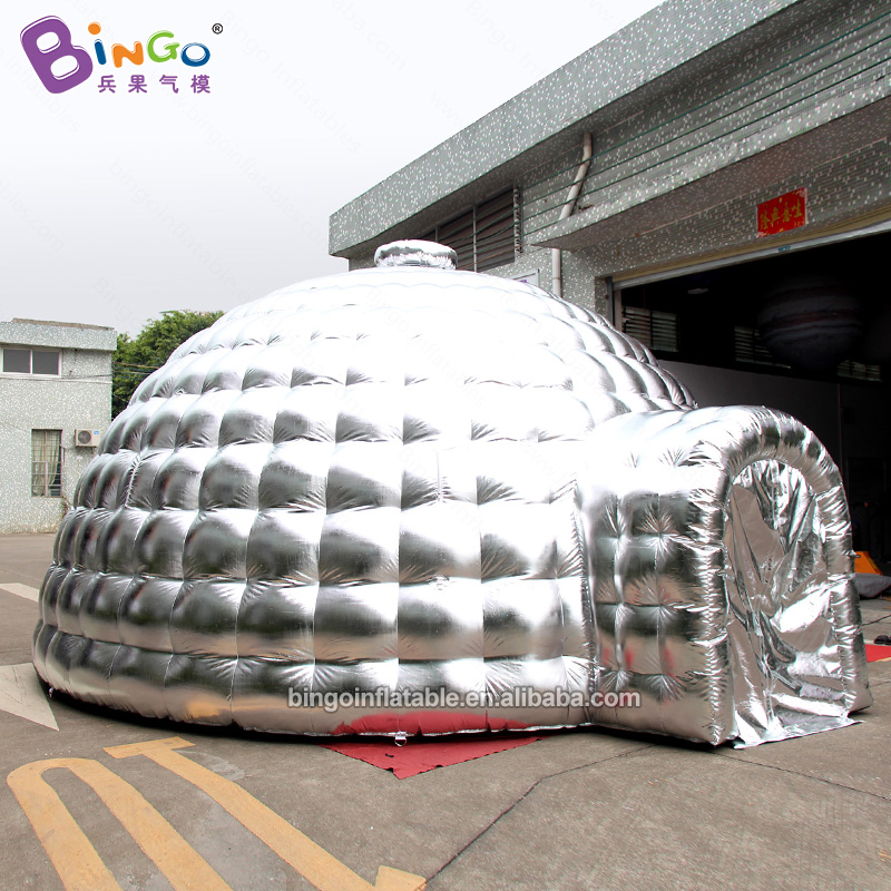 BG-T0202-Inflatable-silver-dome-tent