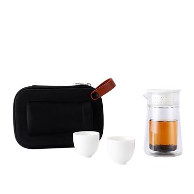 湖畔居 一壶两杯玻璃泡茶宝 HCJ2001201