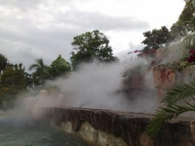 假山造霧設備
