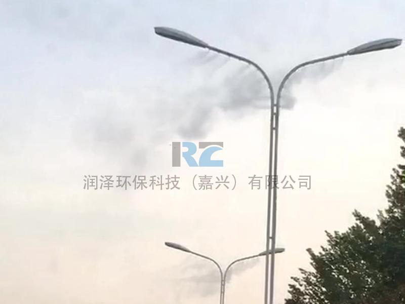 潤澤路燈桿噴霧除塵設備