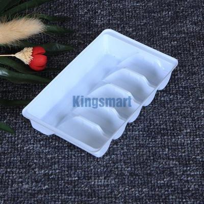 生产供应 pp药用医药包装盒ps植绒底托口服液塑料托白色吸塑托盘