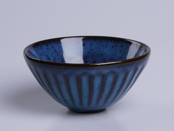條紋變化釉飯碗