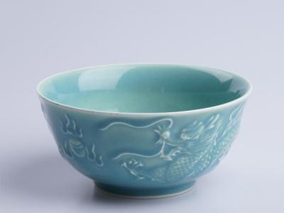龍鳳青瓷飯碗