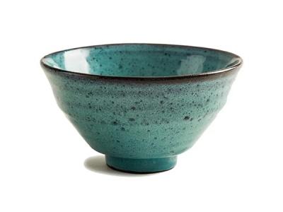 綠釉黑泥飯碗