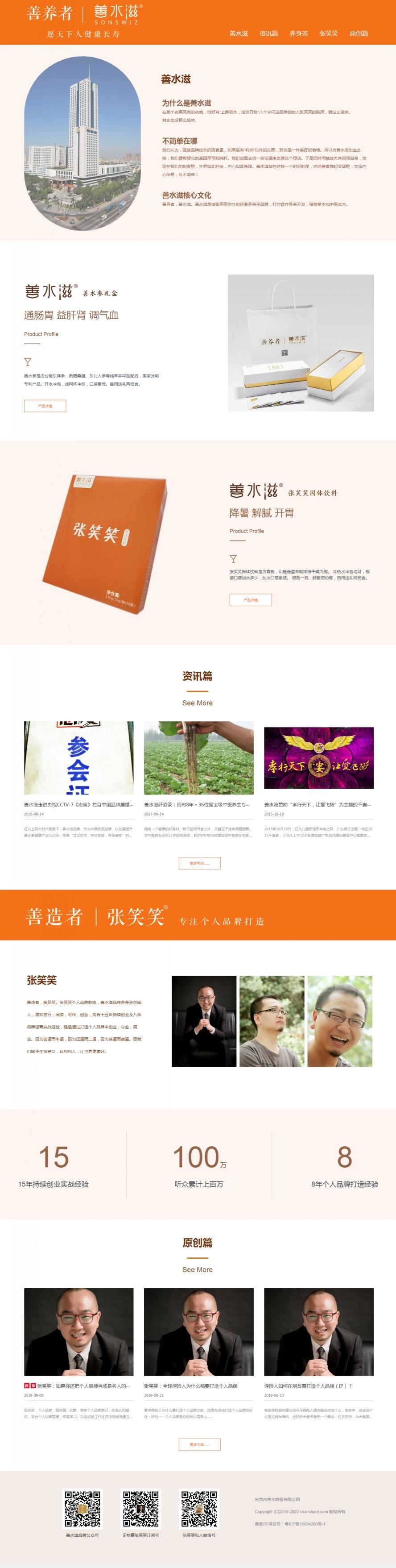 品牌網站建設案例