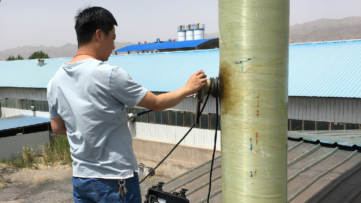 山丹青龙节水管业燃煤锅炉有组织废气检测
