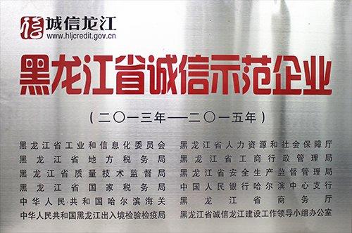 黑龍江省誠信示范企業2013
