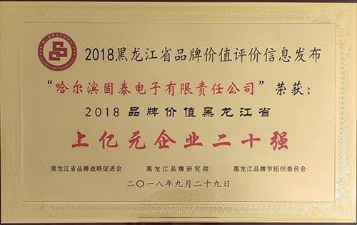 2018年省品牌價值企業二十強