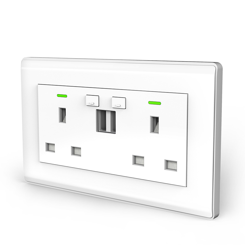 UK Smart Socket with USB MD-TBU02