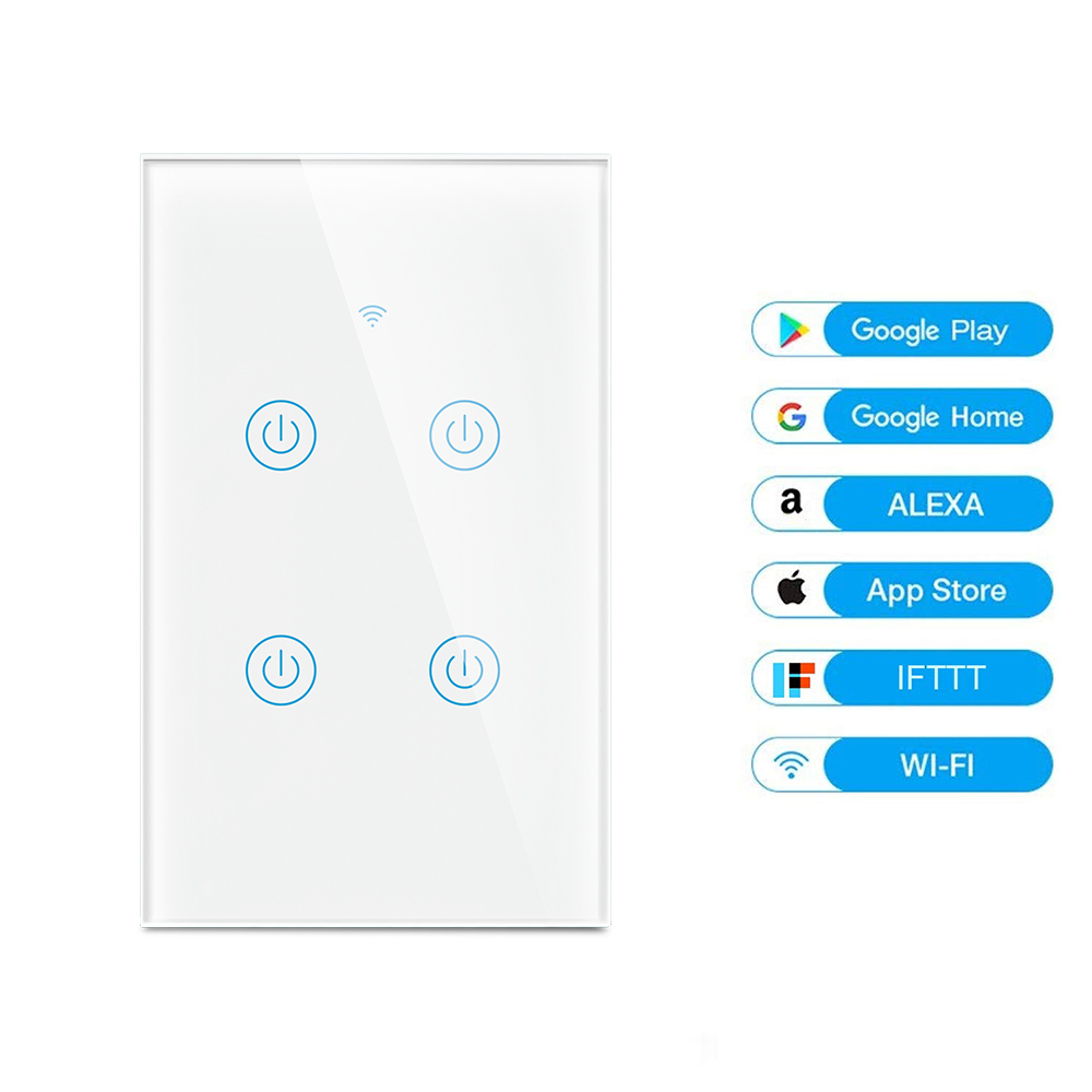 MD-121 4gang US Standard WIFI Touch Switch