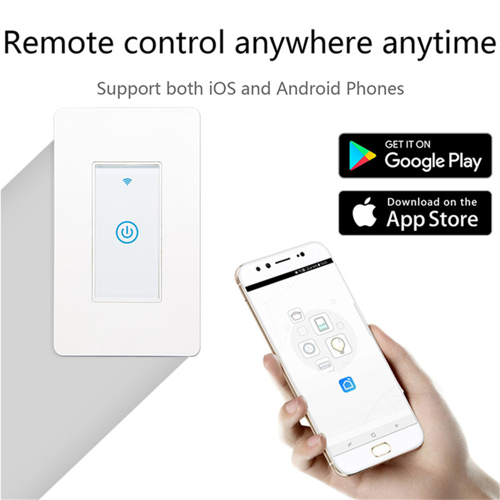 MD-123 1gang US Standard WIFI Touch Switch