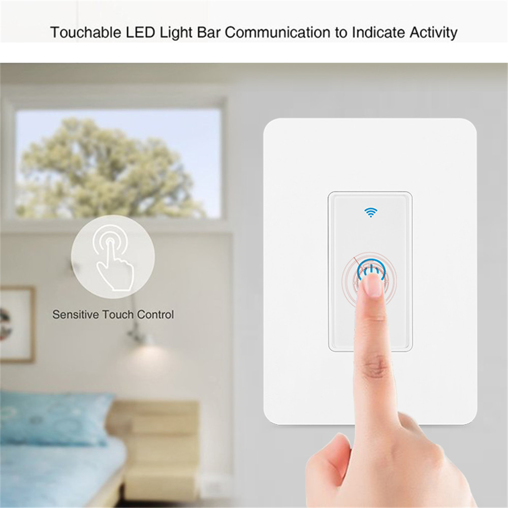 MD-123-1D 1gang US Standard WIFI Touch Switch