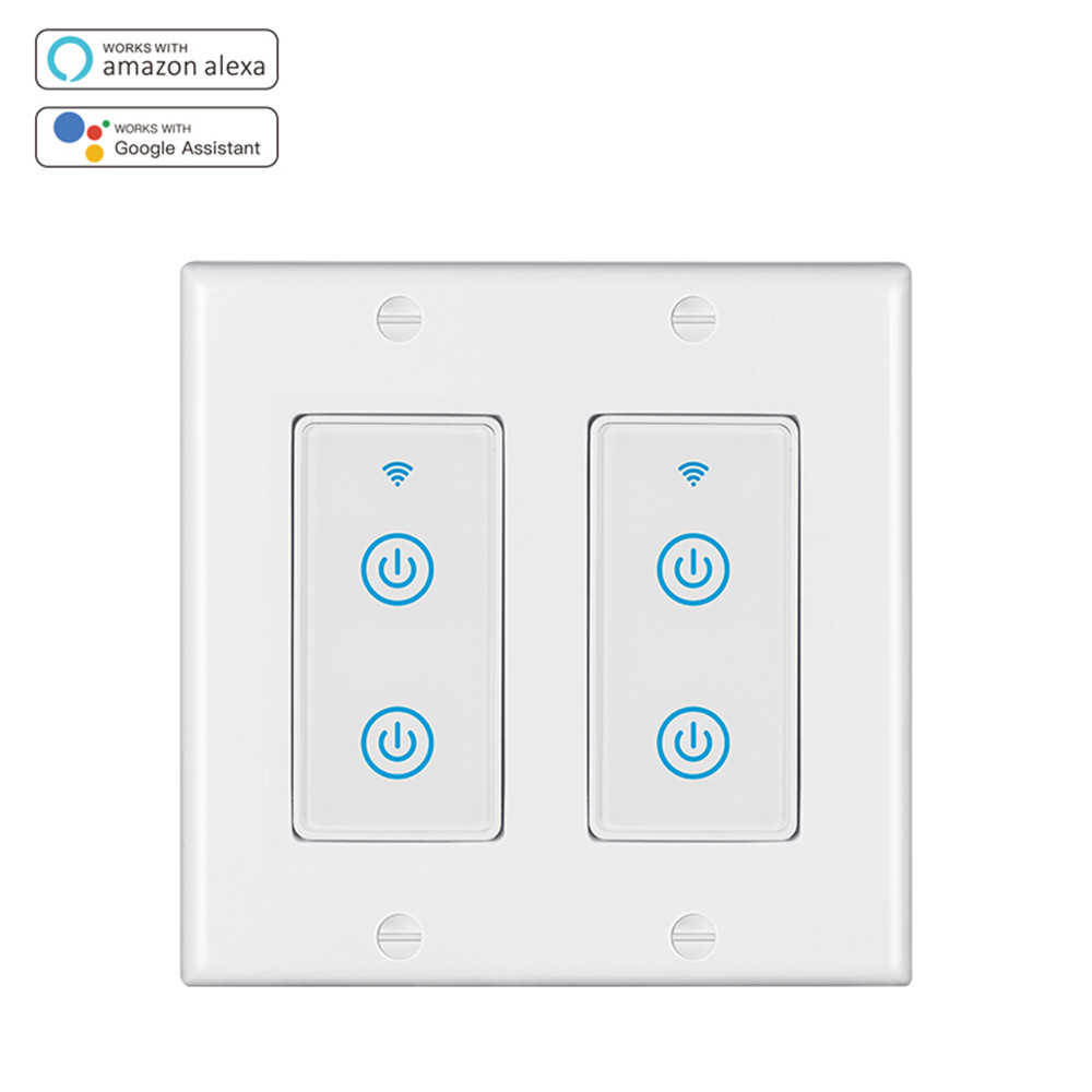 MD-123-2S 2gang US Standard WIFI Touch Switch