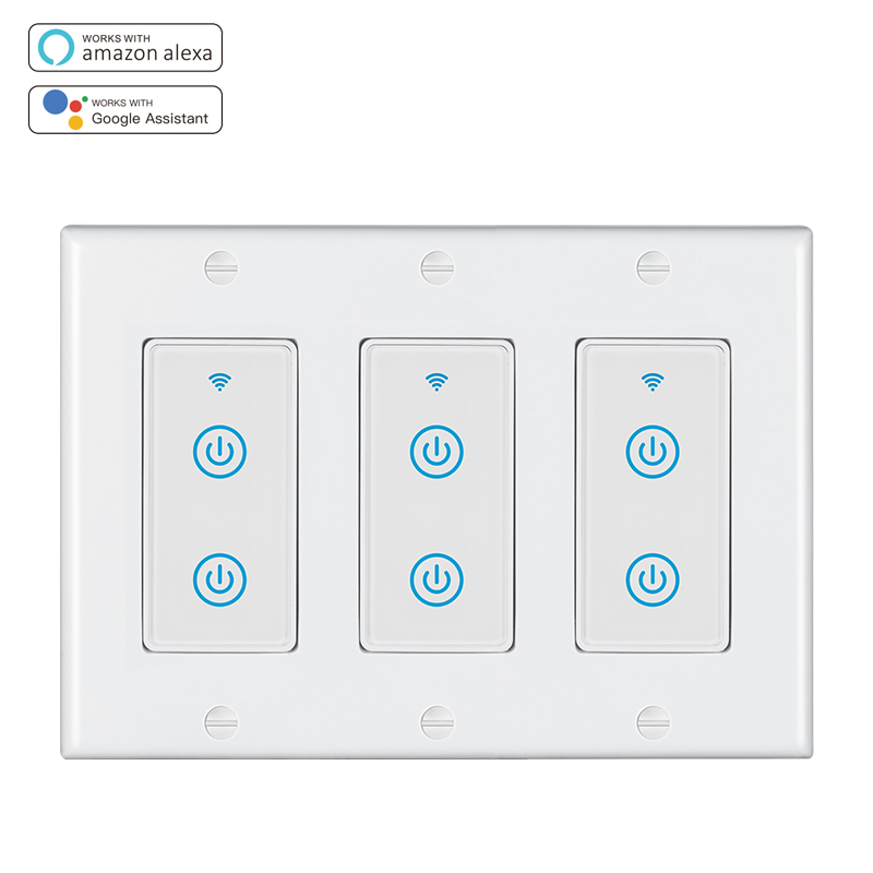 MD-123-2T 3gang US Standard WIFI Touch Switch
