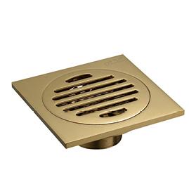 全铜镀金地漏3.5寸A040