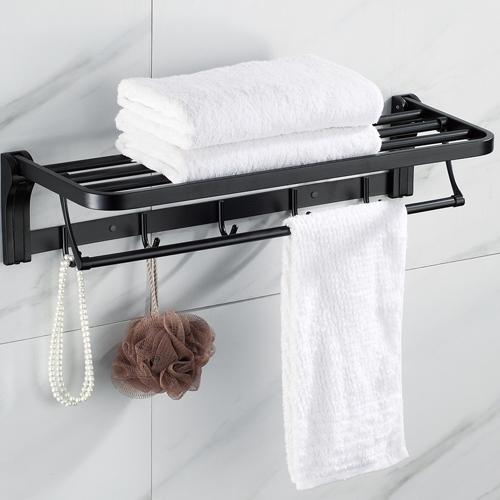 304不锈钢活动毛巾架-哑黑-3818