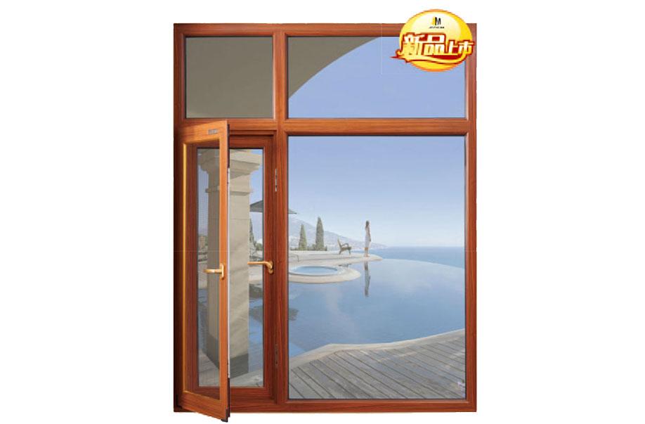 100B系列窗纱一体断桥平开门窗