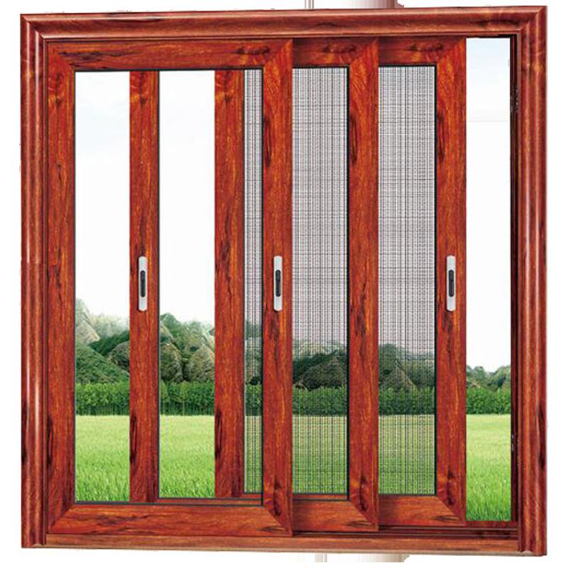 138系列断桥连体二合一三轨推拉玻璃+网门窗