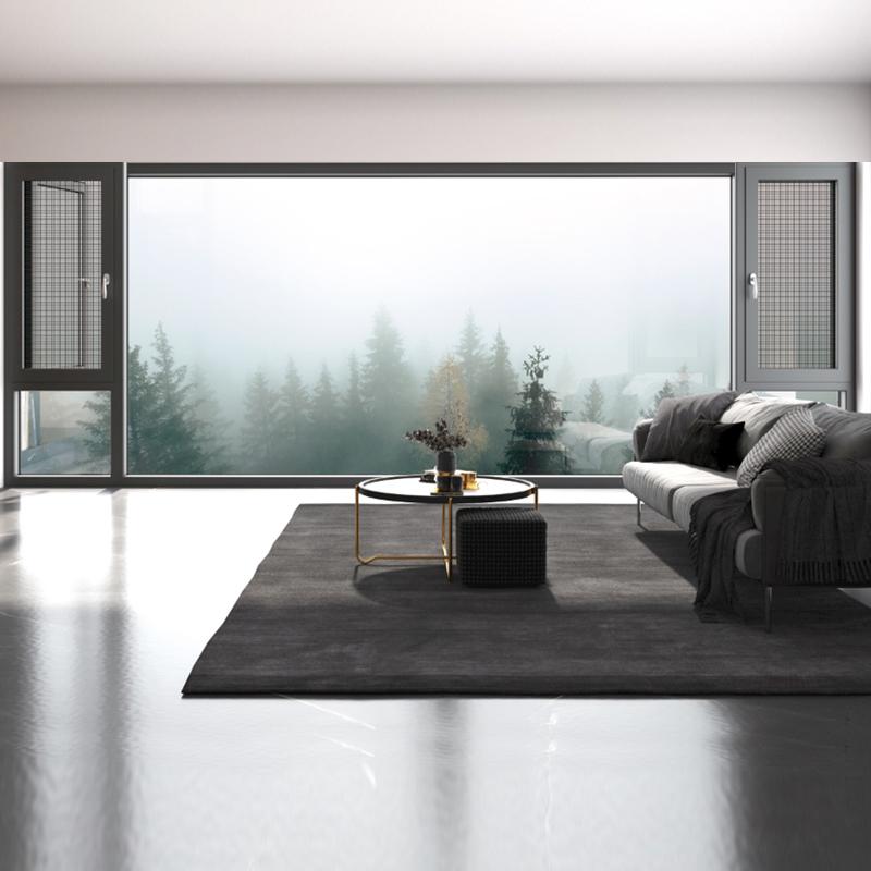 86系列连体二合一玻璃+网港式窗
