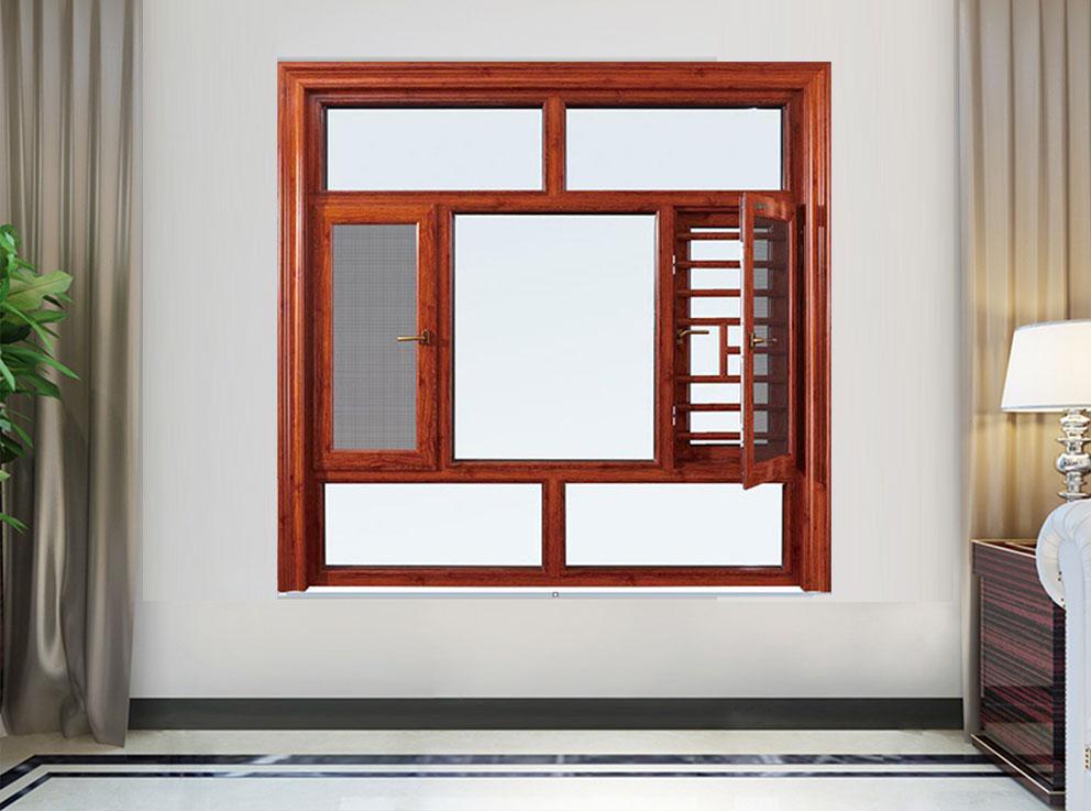 120系列窗纱一体断桥平开门窗
