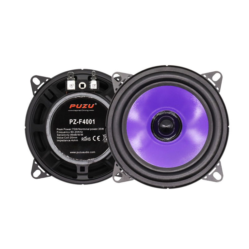 "PUZU PZ-F4001 4""inch Full range car audio speakers"
