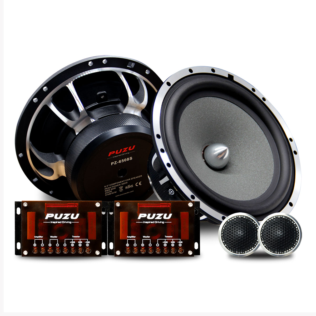 PUZU PZ-6508S 2-way Component car speakers