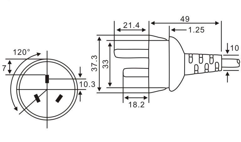 阿根廷标准插头QL-212