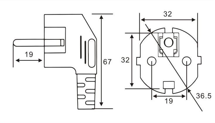 韩国标准插头QL-402-403