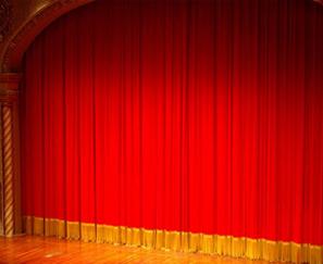 金丝绒舞台幕布 阻燃防火幕布施工安装 舞台幕布厂家新品