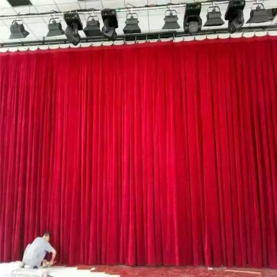 定制舞台幕布黑色金丝绒加绒加厚舞台背景幕布无光天鹅绒厂家