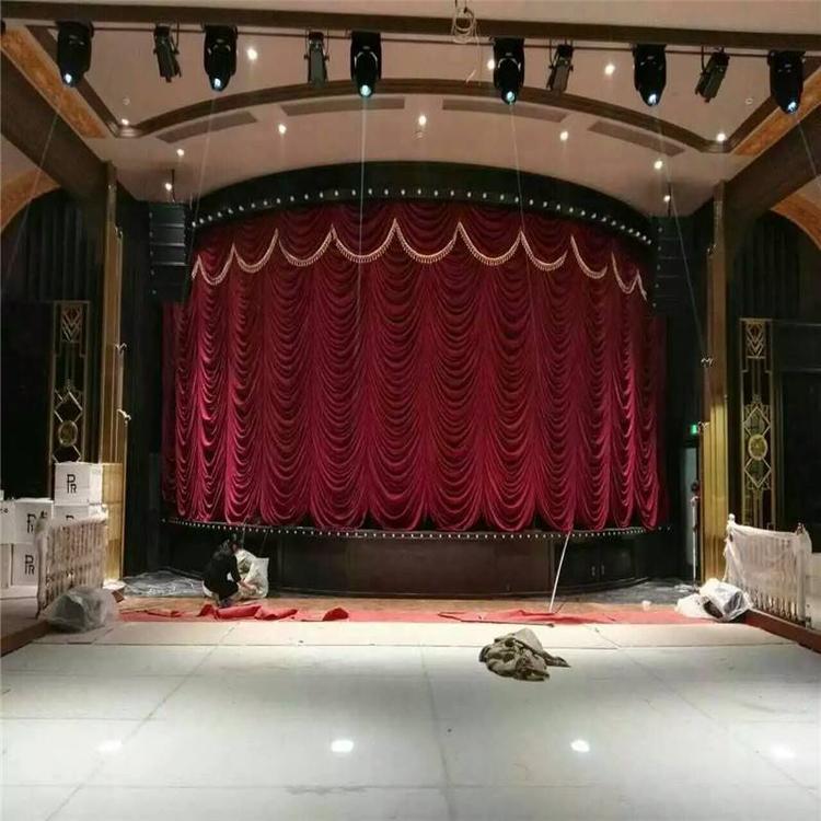 舞台幕布生产厂家剧院舞台幕布麻绒幕布真丝绒幕布阻燃幕布