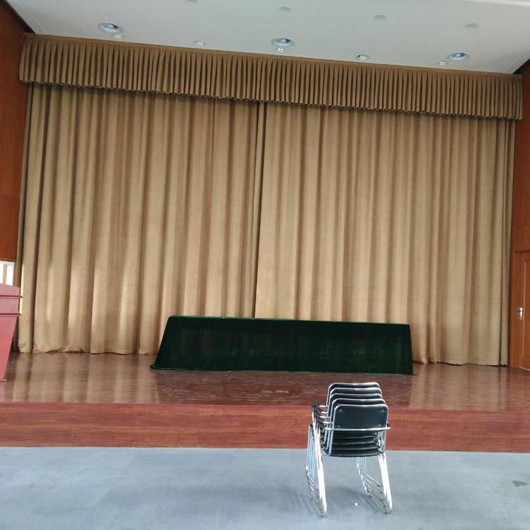 会场舞台幕布 多功能厅剧院电动舞台幕布 演出舞台幕布 真丝绒舞台幕布