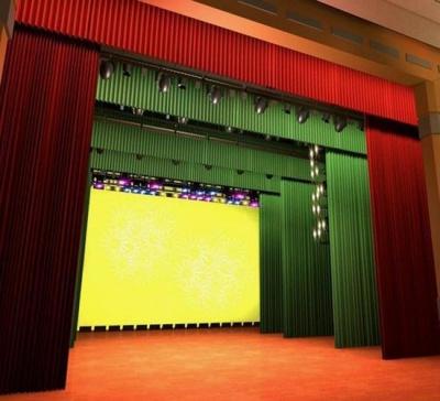金丝绒舞台幕布厂家直销 会议背景幕布