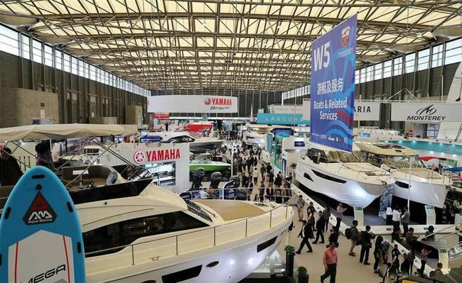 上海国际游艇展在上海新国际博览中心开幕-...