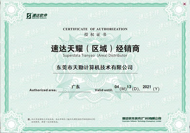 2019年授权证书