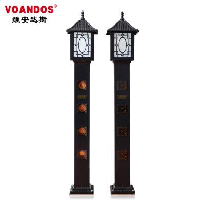 维安达斯  灯饰型隐形激光入侵探测器 别墅 庭院 园区专用(A款系列) ABJ-100-4D(A)