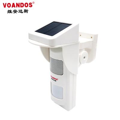 联网型室外无线太阳能红外现场声光报警器 可录音 WS-603H-T