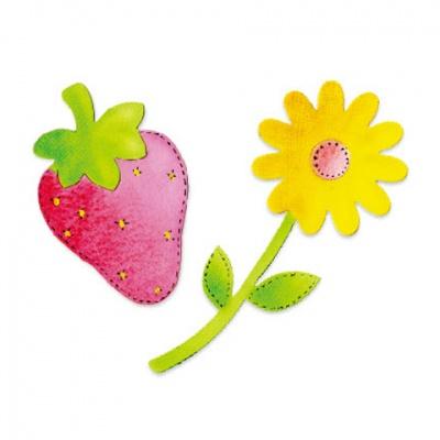 厚模板(小)-草莓和小花  RY-HS-ZW0007