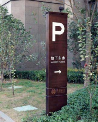 地下停车场牌