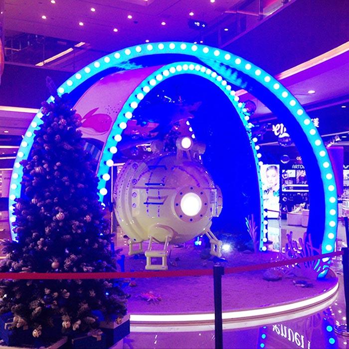 圣诞圆弧门装饰
