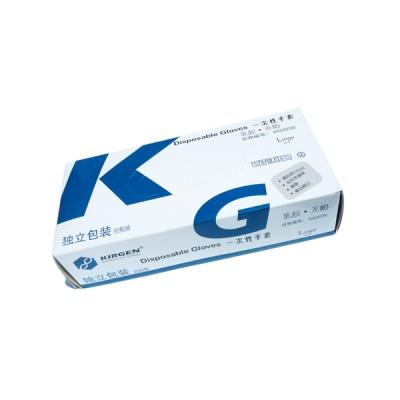 KG3230|kirgen,无粉乳胶手套,独立包装,灭菌,大号