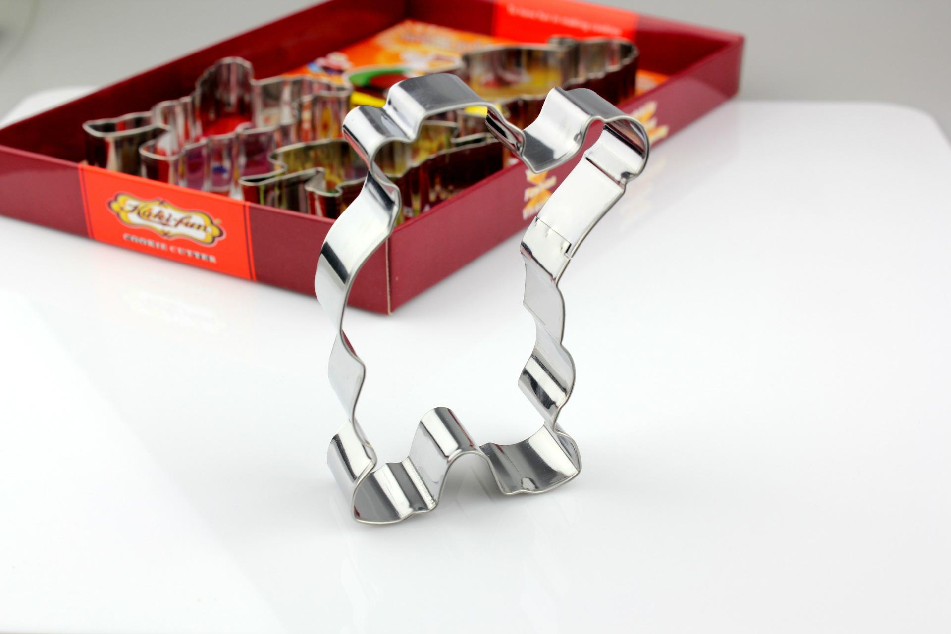 复活节兔子4件套装 不锈钢饼干模 彩盒包装DIY食物模具