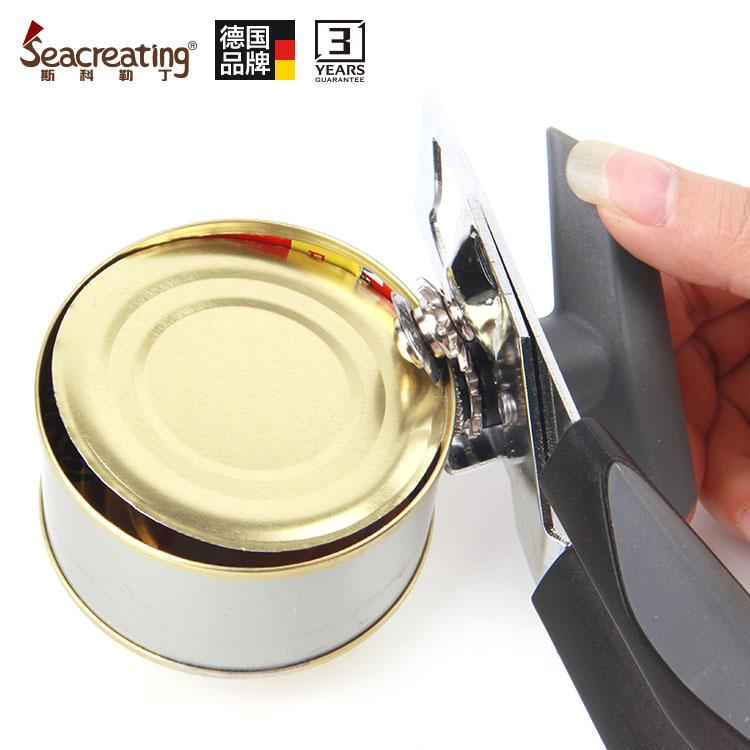 正品德国斯科勒丁厨房用品加厚不锈钢多功能奶粉罐头开罐器开瓶器
