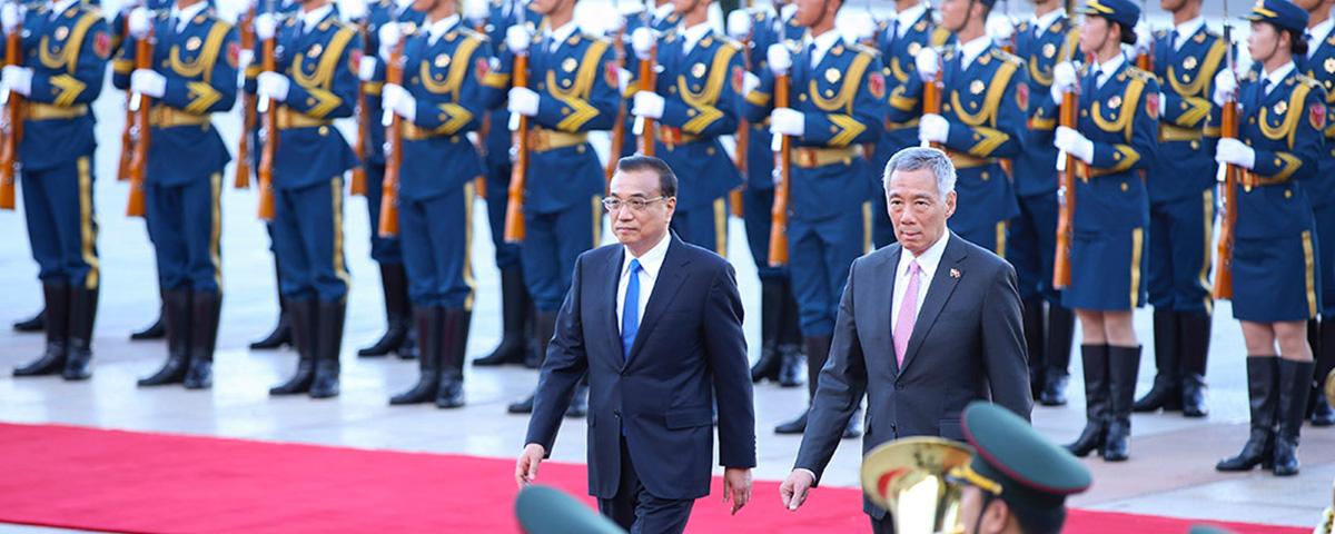 李克强总理与XX国总理会面
