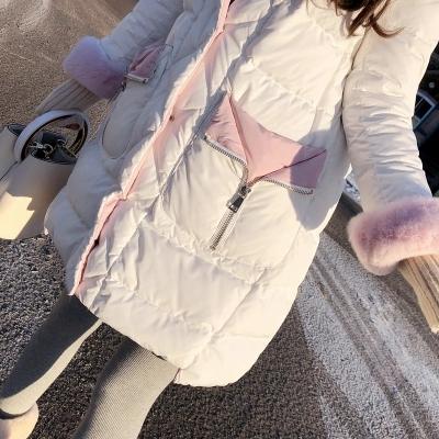 冬装新款女装显瘦大毛领羽绒服韩版女装冬装连帽白色中长款羽绒服韩版显瘦大毛领连帽羽绒服外套