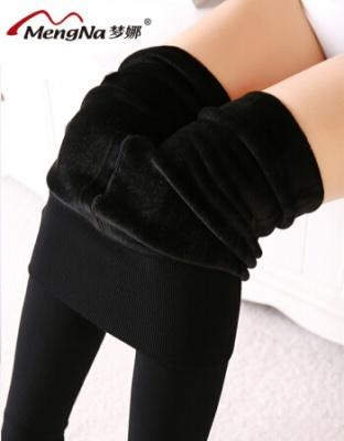 秋冬季新款加绒加厚打底裤性感外穿加厚打底裤光腿神器踩脚保暖打底裤
