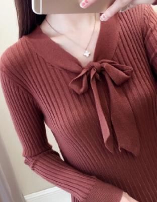 秋装新款韩版时尚针织衫秋冬新款韩版修身潮流套头毛衣韩版时尚修身套头针织打底衫