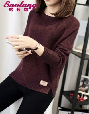 冬装新款宽松套头长袖针织衫宽松套头秋冬季外针织套新款秋冬季长袖针织毛衣