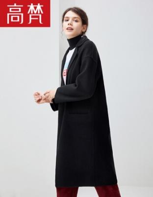 秋冬装新款双面呢羊毛大衣新款中长款修身时尚外套双面呢款修身时尚羊毛大衣