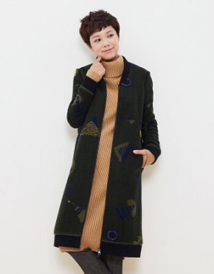 冬款新品简约时尚宽松大衣时尚宽松中长款羊毛外套冬装中长款简约时尚羊毛大衣